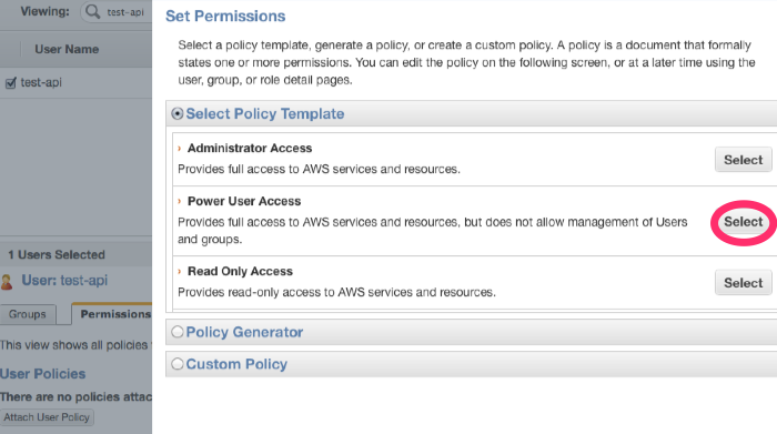 Select Power User Access